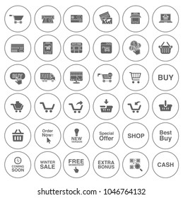 commerce Icons, Fashion design icons set - shopping illustrations collection