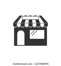 Commerce, shop, store icon. Vector illustration. Building