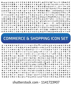 Commerce and shopping vector icon set