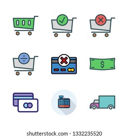 commerce vector icon set