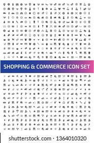 Commerce vector icon set