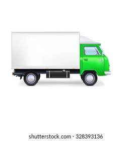 Commercial delivery, cargo truck, full editable vector illustration eps10