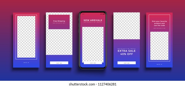 Commercial Instagram Stories template.  Sale. Streaming.