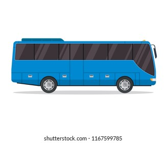 Commercial Passenger Bus Illustration, Suitable For Print, Game Asset, Infographic, Web, And Other Graphic Related Purpose