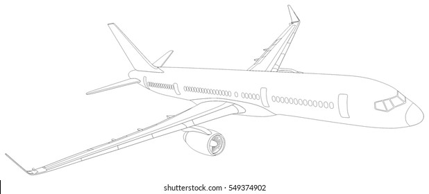 aeroplane sketch images  stock photos  u0026 vectors