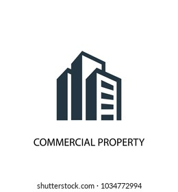 commercial property icon. Simple element illustration. commercial property symbol design from Real Estate collection. Can be used for web and mobile.