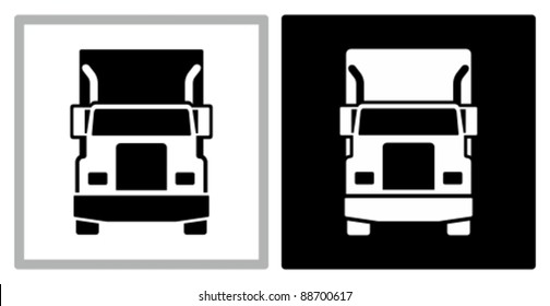 Commercial truck icon.