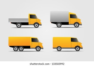 Commercial van icons