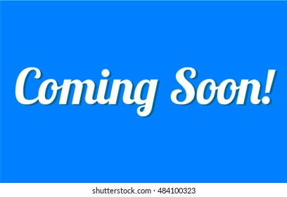 comming soon blue vector background