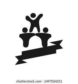 Commitment Teamwork Together Black Business Logo Illustration Vector