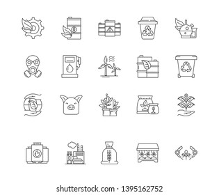 Commodity brokers line icons, signs, vector set, outline illustration concept
