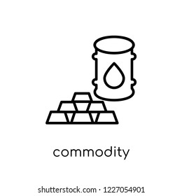commodity icon. Trendy modern flat linear vector commodity icon on white background from thin line Commodity collection, outline vector illustration