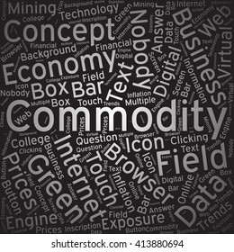 Commodity,Word cloud art background