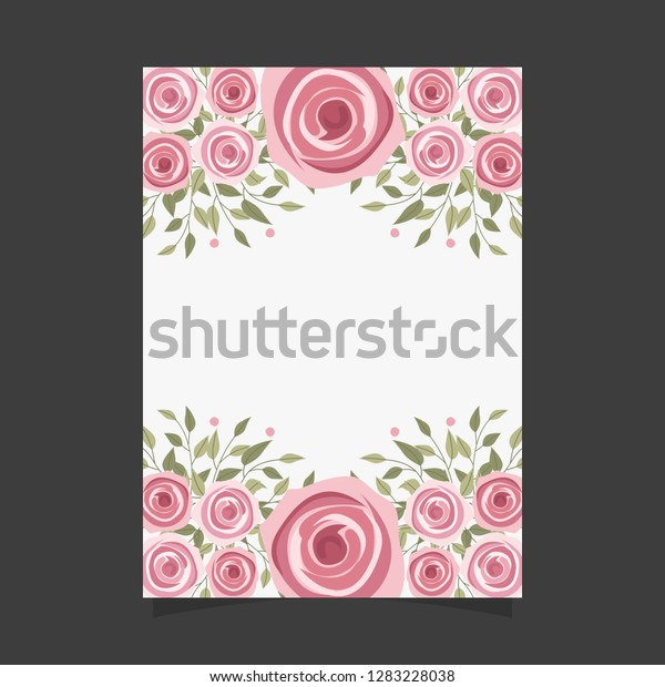 Common Size Floral Greeting Card Invitation Stock Image