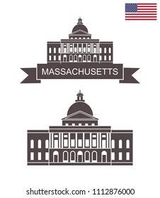 Commonwealth of Massachusetts. Massachusetts State House in Boston