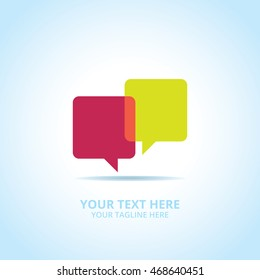 Communication abstract emblem, design concept, logo, logotype element for template.
