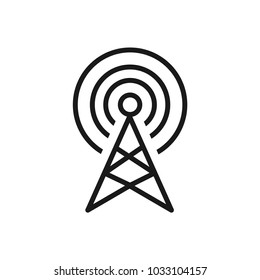 Communication antenna simple vector icon