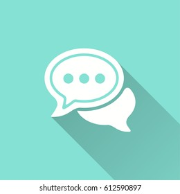 Communication bubble vector icon. Illustration isolated for graphic and web design.