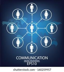 communication concept. connection. vector Illustration.