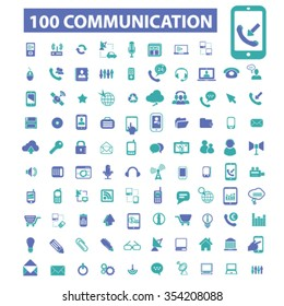Communication, connect,  business talking, calling, chat, phone, message, contact, technology, gadget, telephone, connection, technology, mobile icons, signs vector set