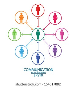 communication. connection. vector Illustration.