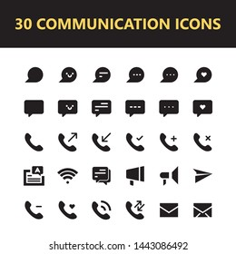 Communication conversation chat icon set vector isolated