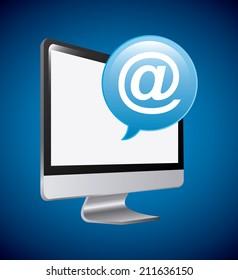 communication design over blue  background vector illustration