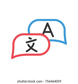 Communication in different languages. speech clouds