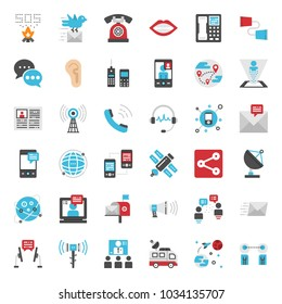 Communication evolution pixel perfect flat icon, isolated on white background