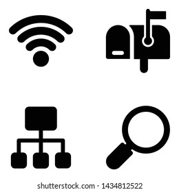 Communication filled icons pack for any project is here. Glyph design vectors are editable and convenient for your design project. Grab it now