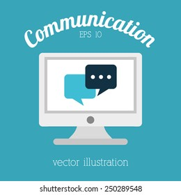 communication icon design, vector illustration eps10 graphic