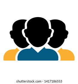 communication icon. Group of people icon. Share symbol. business icon