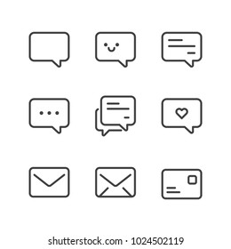 Communication icon set isolated, suitable for your chat platform