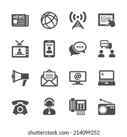communication icon set, vector eps10.