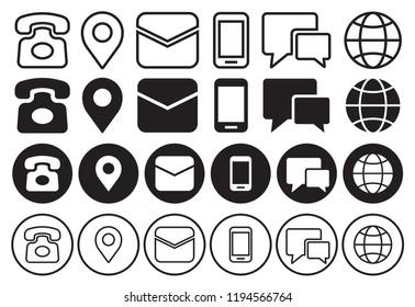 communication icon set. vector illustration