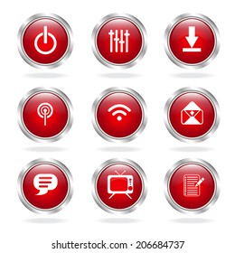 Communication Icons button on white background