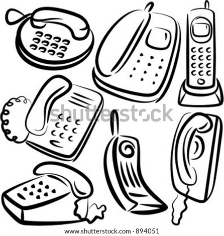 Communication Icons Phone Sets Stock Vector Royalty Free 894051