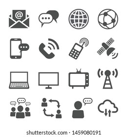 Communication Icons set.  Telecommunication Technology