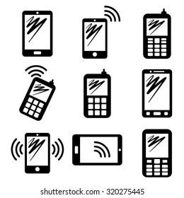 Communication icons, telephone and devices design, vector illustration