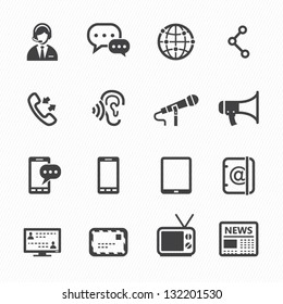 Communication Icons with White Background