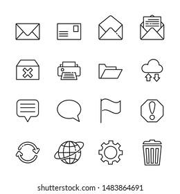 communication line icon set 11, vector eps10.