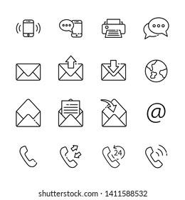 communication line icon set 5, vector eps10.