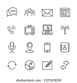 communication line icon set, vector eps10.