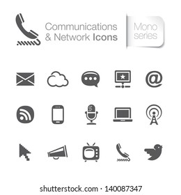 Communication & network related icons