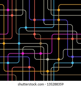 Communication network. Seamless vector background.