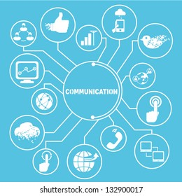 communication network template, communication  info graphics