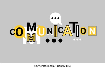 Communication And Networking Web Banner Abstract Template Background Vector Illustration