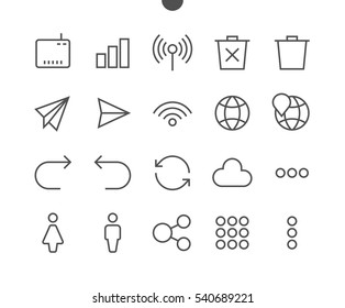 Communication Pixel Perfect Well-crafted Vector Thin Line Icons 48x48 Ready for 24x24 Grid for Web Graphics and Apps with Editable Stroke. Simple Minimal Pictogram Part 3-3