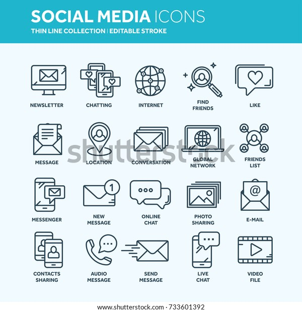 Communication Social Media Online Chatting Phone Stock Vector