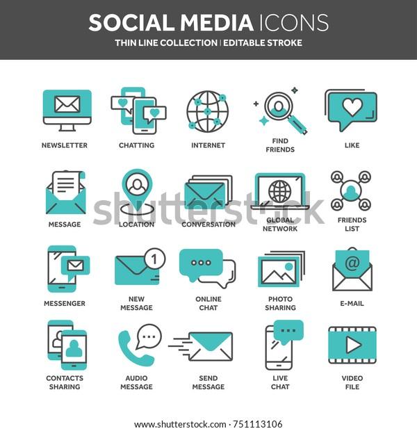 Communication Social Media Online Chatting Phone Stock